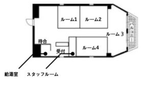 レンタルサロンFELICITE神戸店 間取図